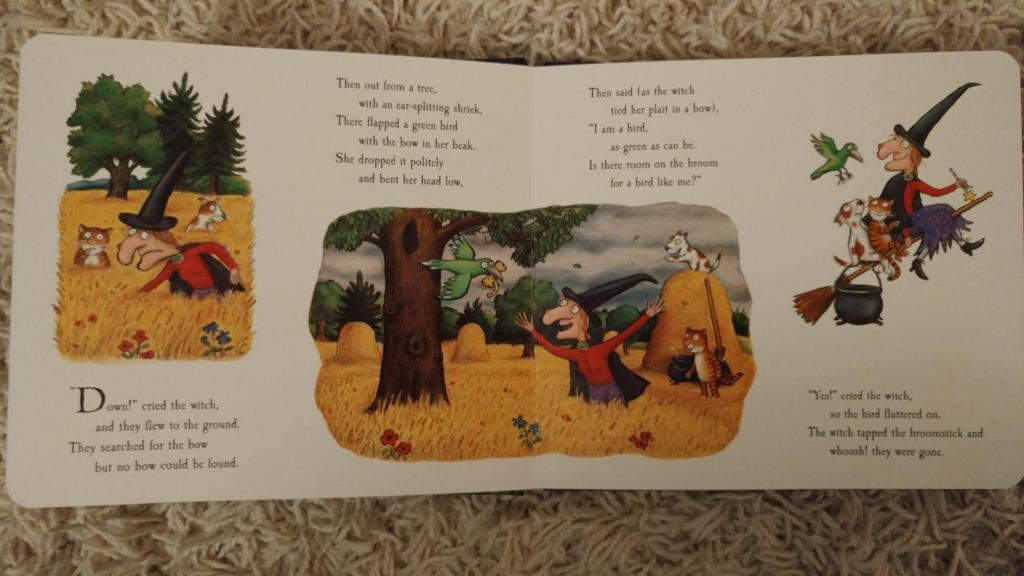Room on the Broom book opened to a page