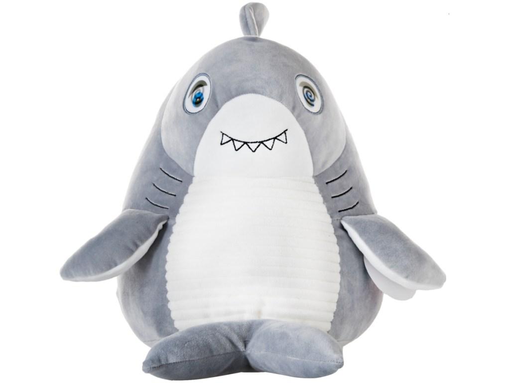 Round Flip-Eye Shark Plush