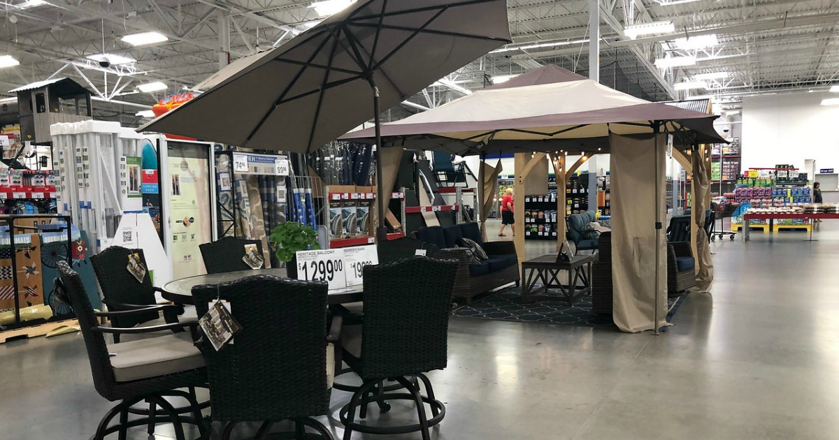 Patio furniture section at Sam's Club