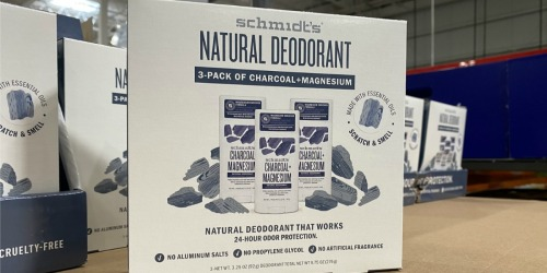 Schmidt's Natural Deodorants 3-Pack Only $11.49 at Costco (Just $3.83 Each)