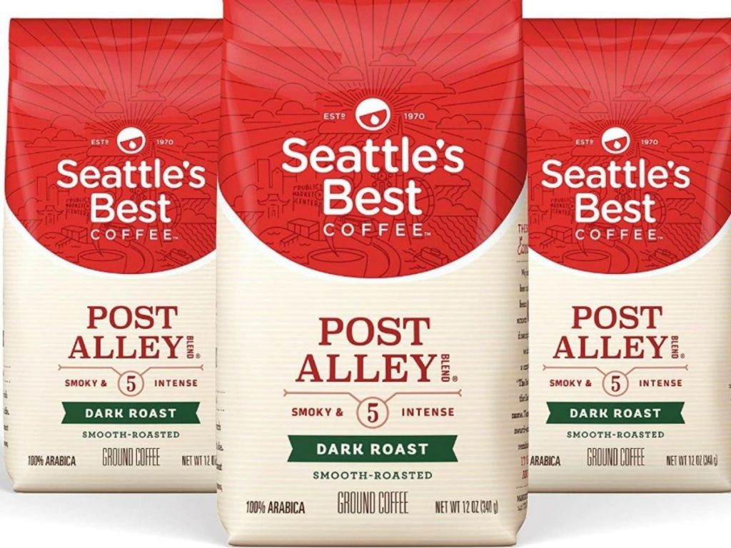 Seattles Best Post Alley Coffee three 12oz bags