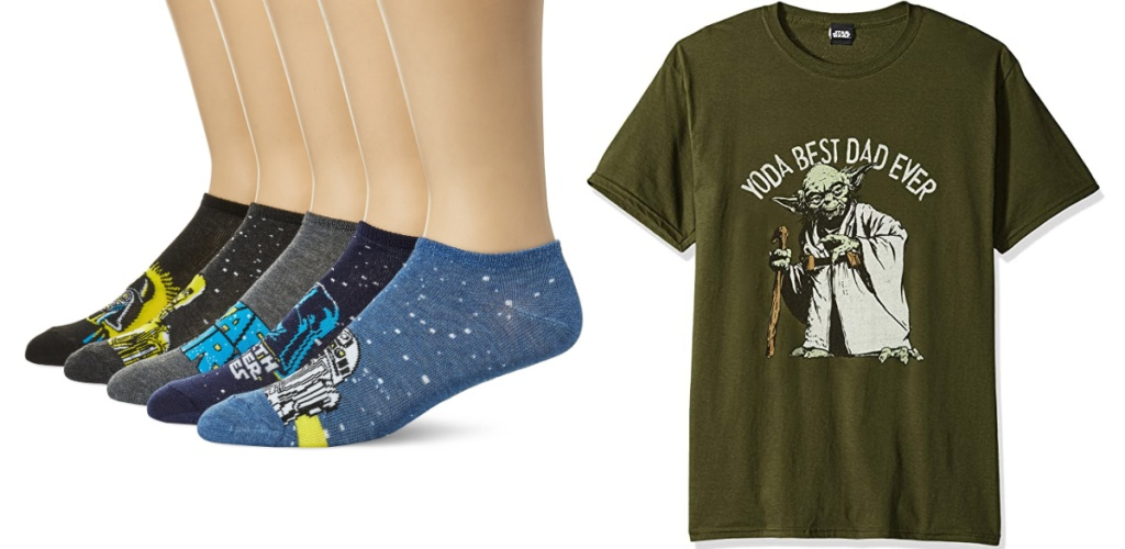 Star Wars Men's Socks and Yoda Best Dad Ever tee