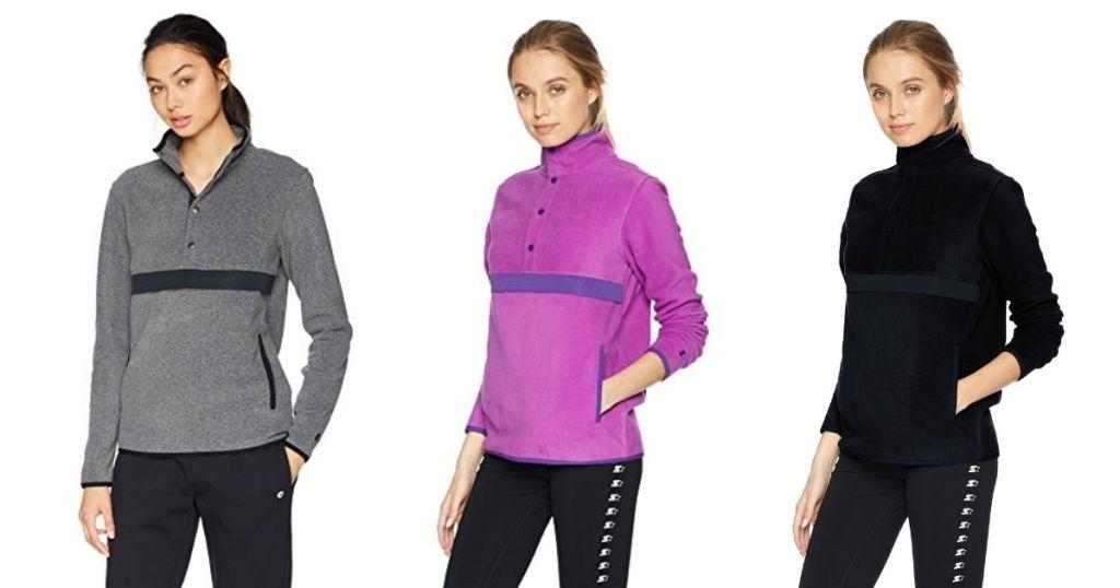 Starter womens fleece in 3 colors