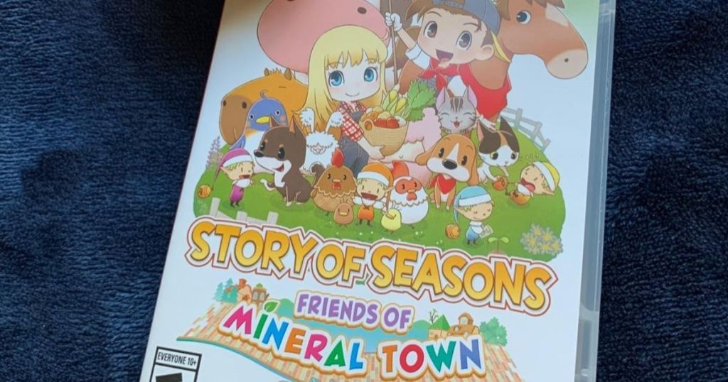 Story of Seasons Friends of Mineral Town game on a blanket