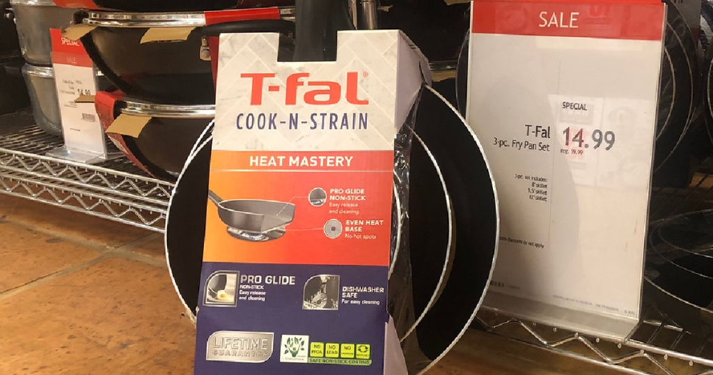 three piece fry pan set in store