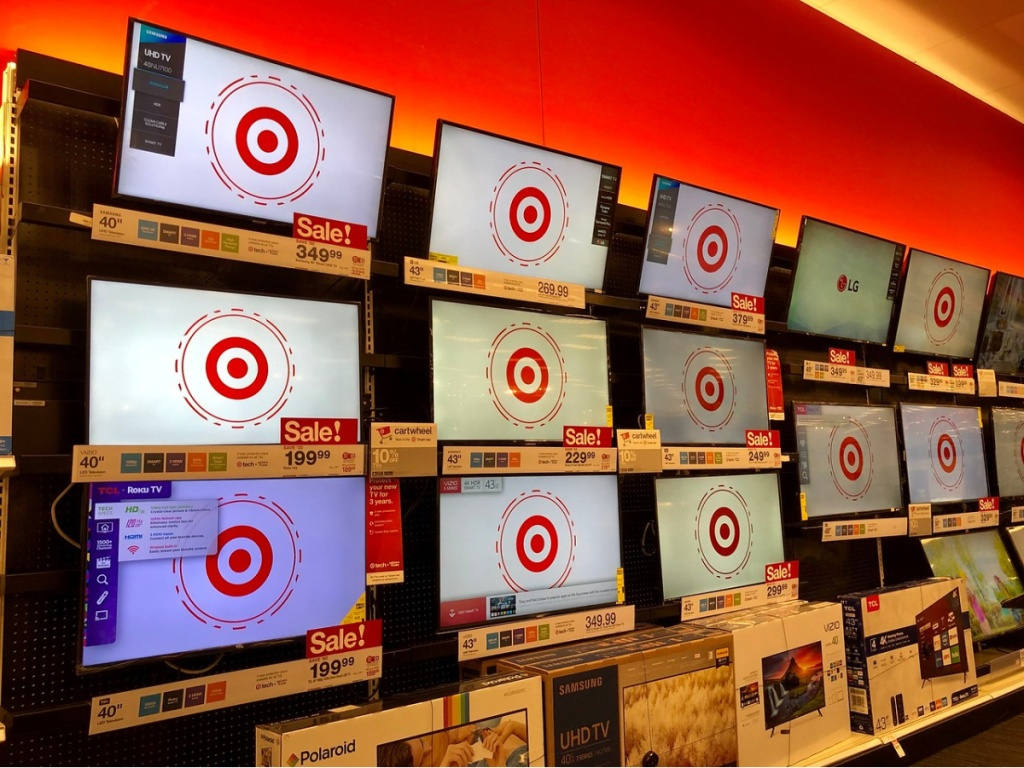 store display wall full of TV's