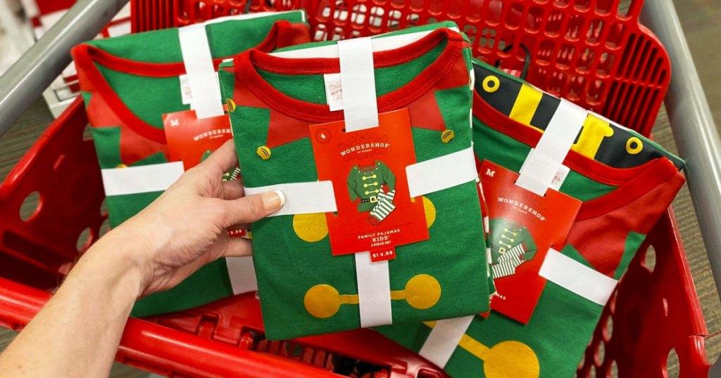 elf print matching family pajama sets in target shopping cart