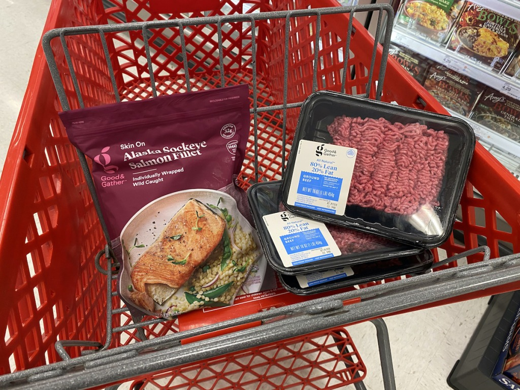 Target salmon and ground beef