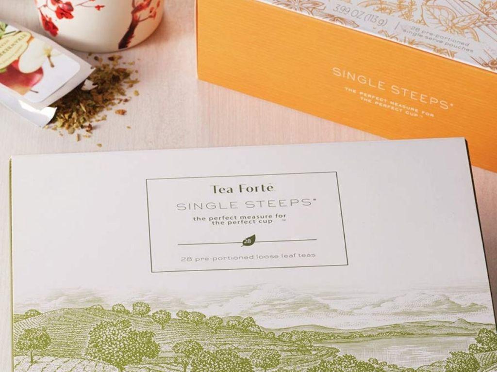 close up of Tea Forte Herbal Tea Chest
