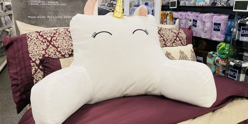 The Big One Backrest Pillows Just $15 on Kohls.com (Regularly $30) | Unicorn, Sloth, Llama & More