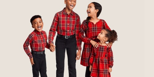 Up to 50% Off The Children's Place Matching Family Outfits + Free Shipping | Cute for Holiday Pictures