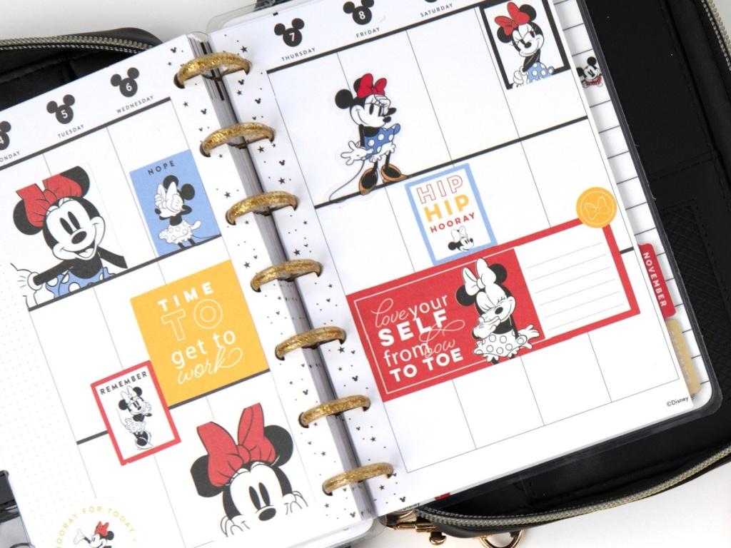 The Happy Planner Disney Mickey & Minnie Mouse Collection Planner open