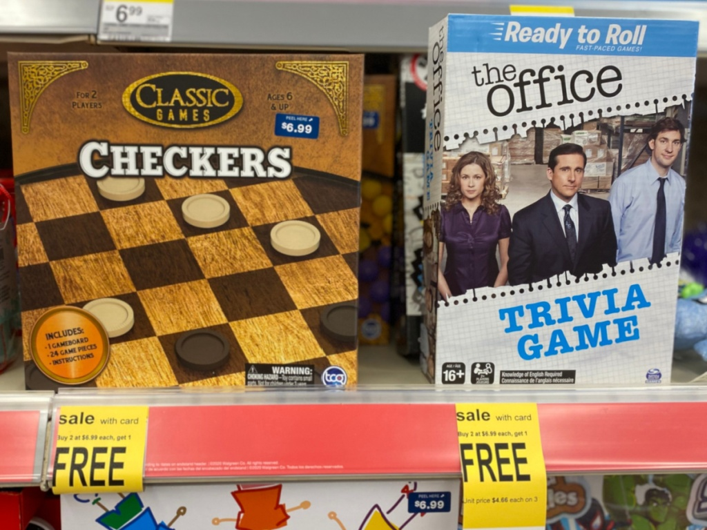 two games on store shelf