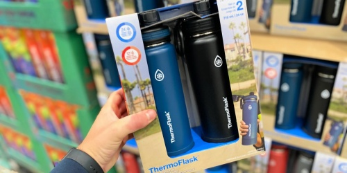 ThermoFlask 24oz Stainless Steel Water Bottle 2-Pack Only $15.99 at Costco