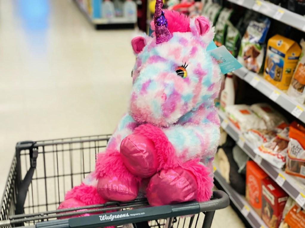 Tinsel Sitting Unicorn Plush in walgreens cart