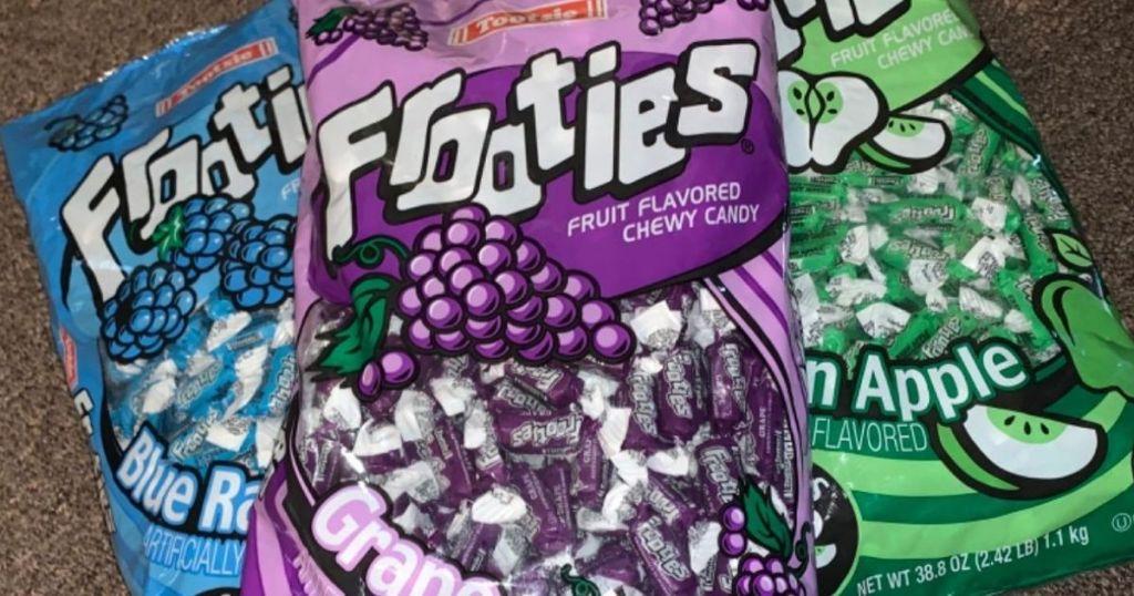 large bags of Tootsie Frooties
