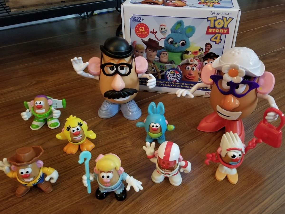Mr. Potato Head Andy's Playroom Toy Story Set figures dressed up