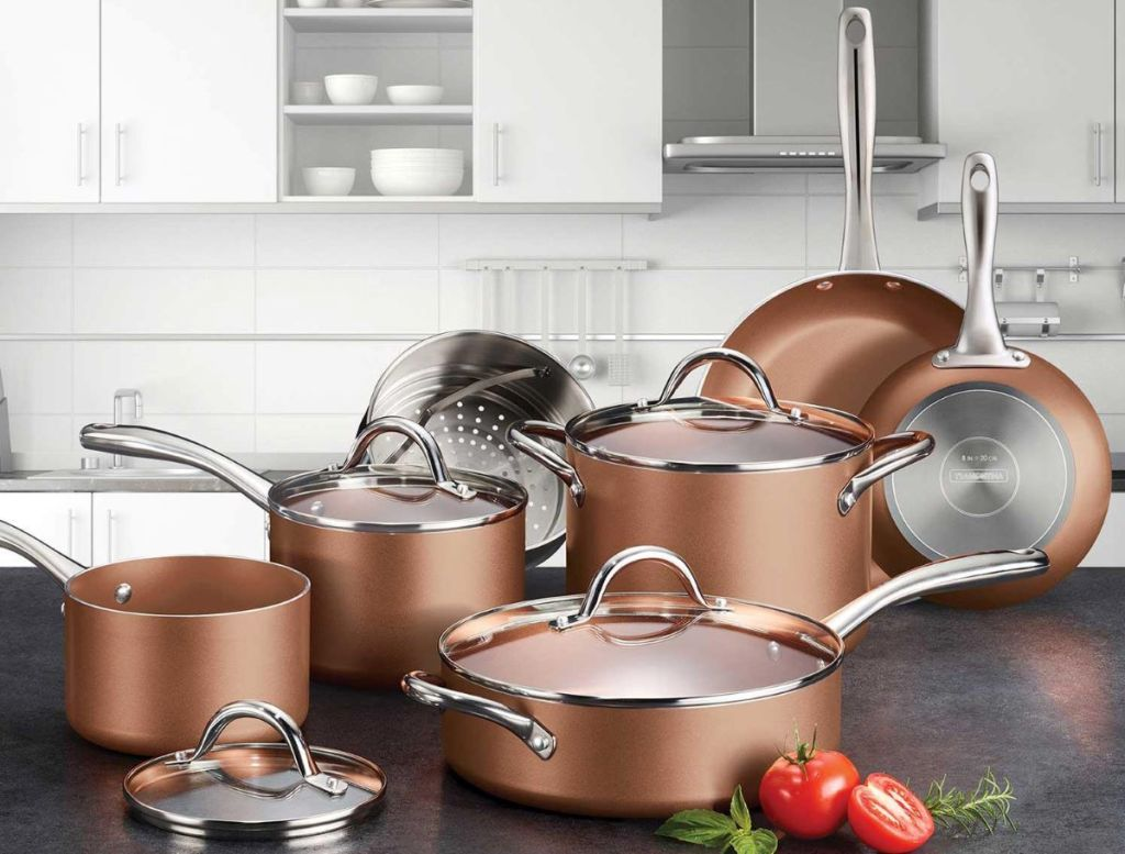 cookware set on a counter