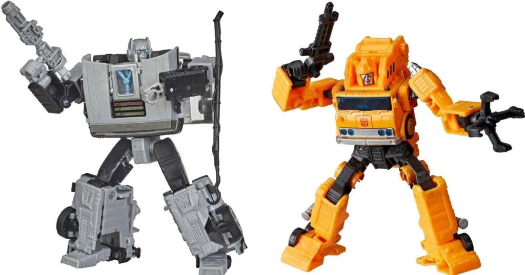 two Transformers figures