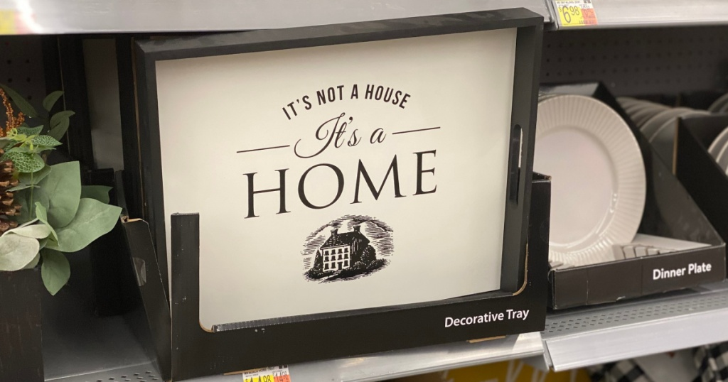 It's Not a House, It's a Home farmhouse sign at walmart