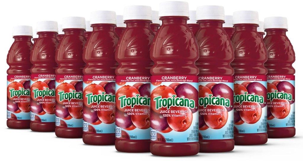 bottles of tropicana cranberry juice