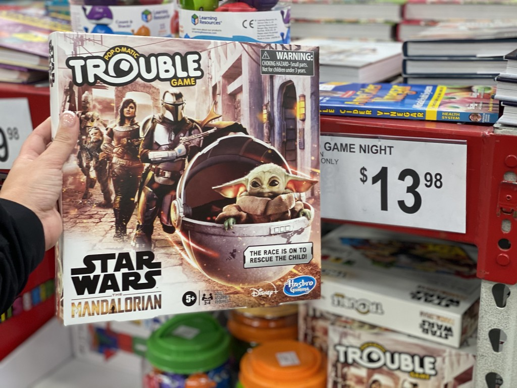 Trouble Mandalorian Game on sam's club display table