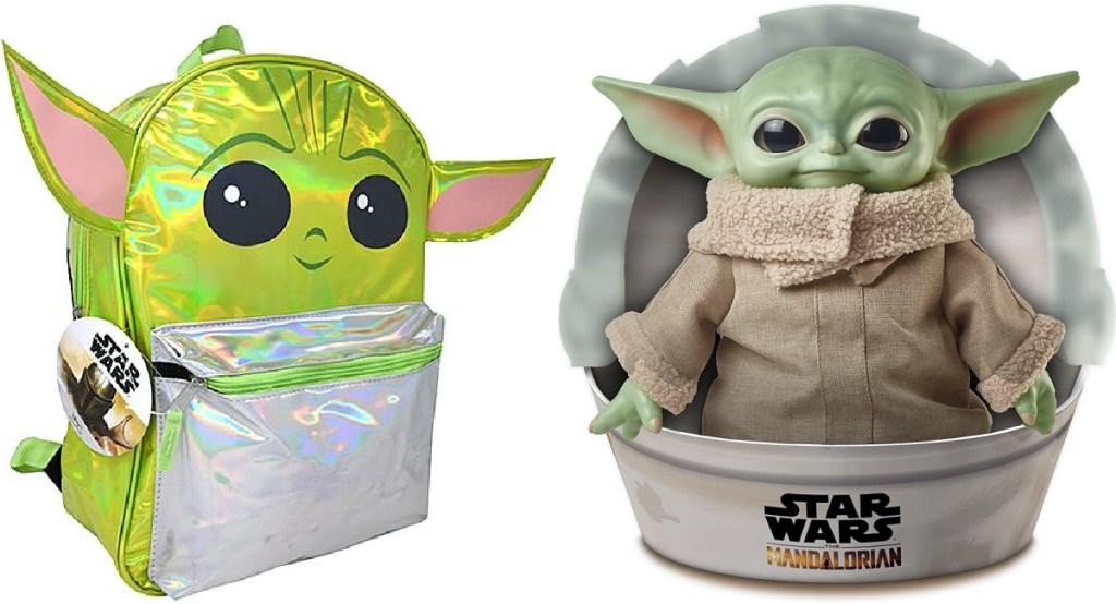 Baby Yoda kids backpack and Baby Yoda plush toy