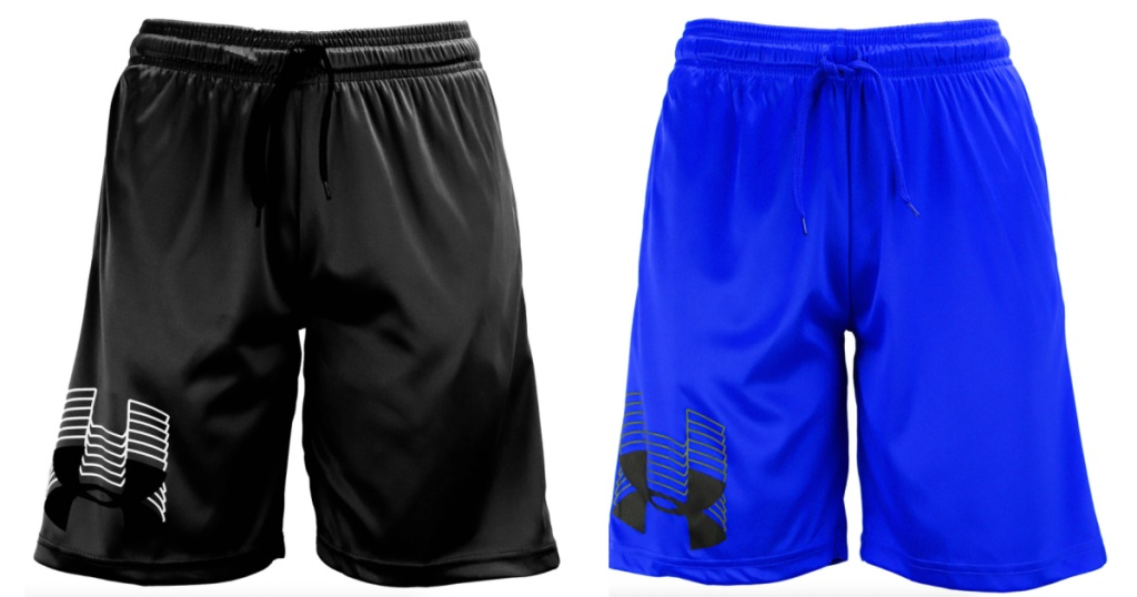 two pairs of boys athletic shorts