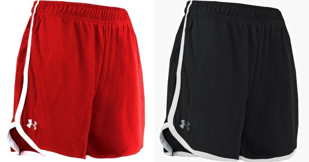 two pairs of under armour women's shorts