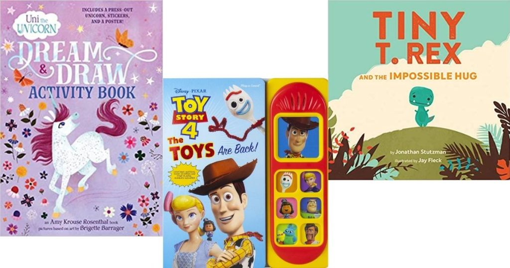 Uni the unicorn, Toy Story and T Rex Books