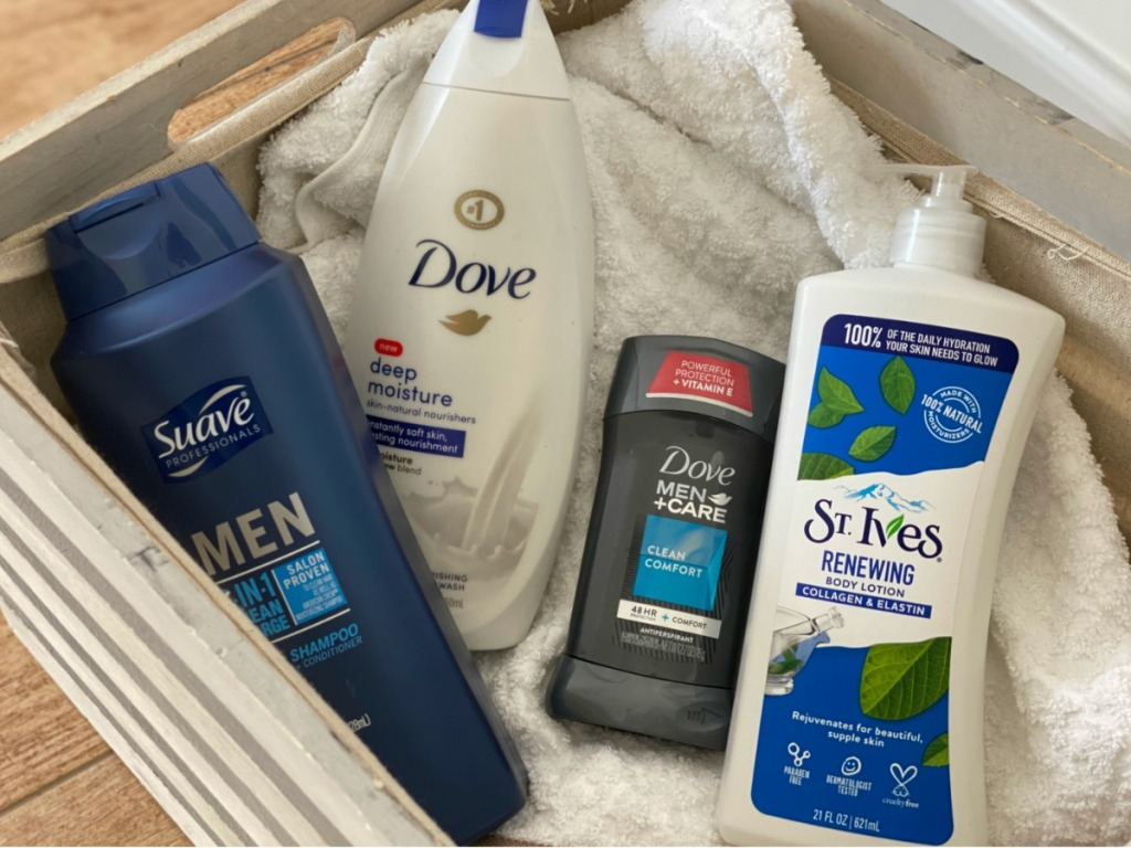 unilever personal care products in basket