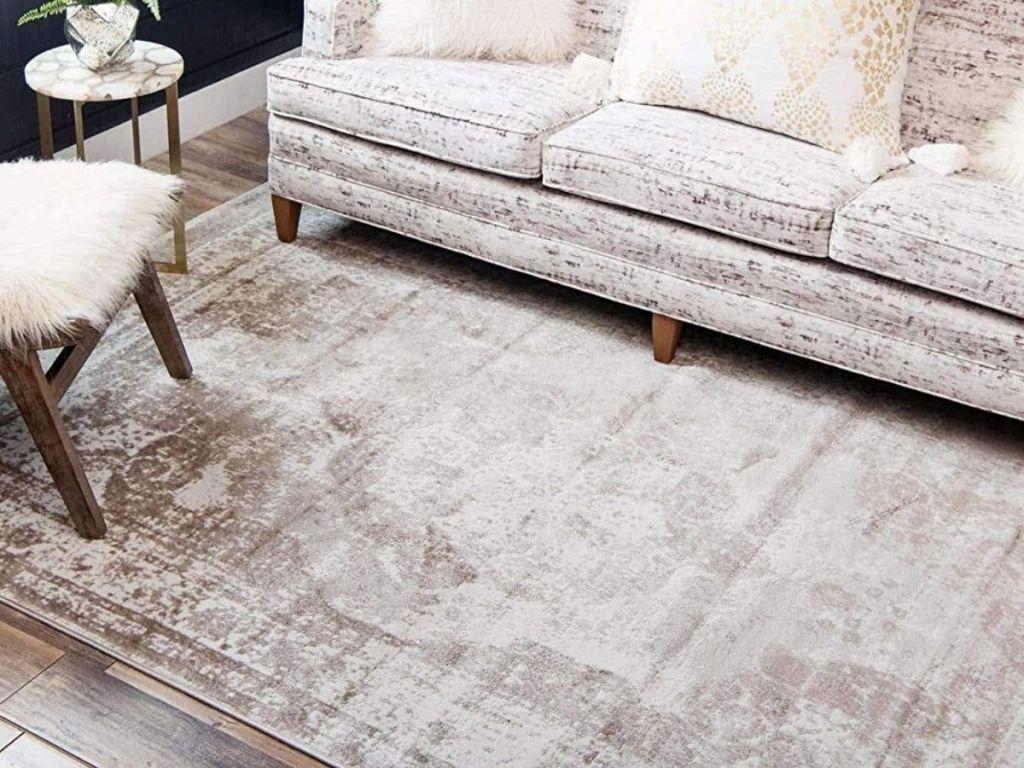 Unique Loom Beige Distressed area rug