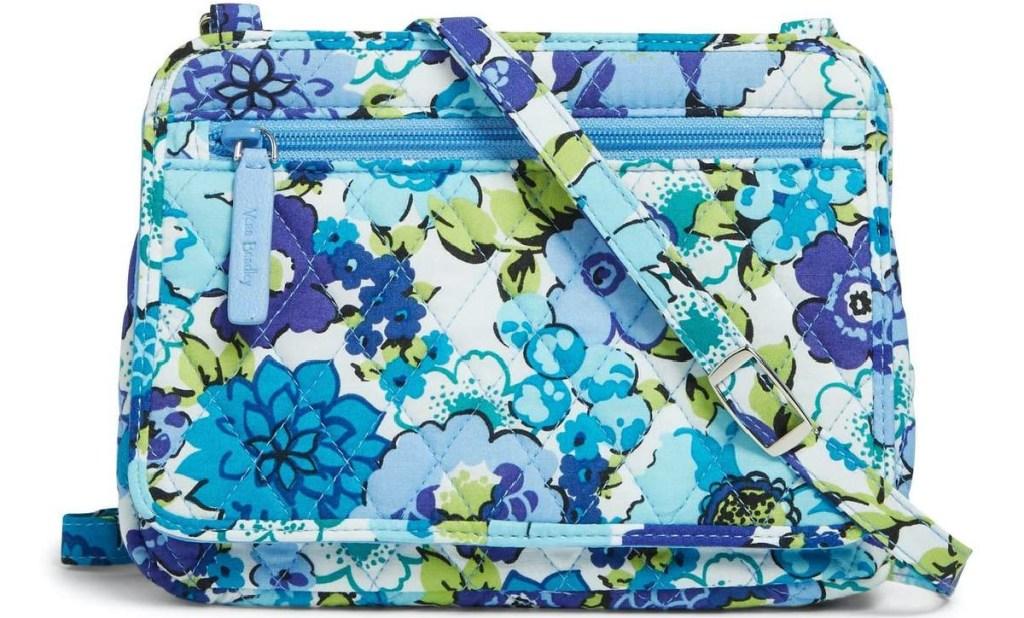 blue floral mini crossbody bag