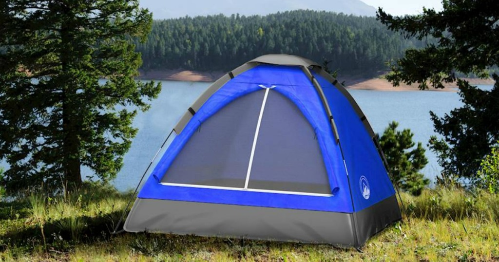 Wakeman Outdoors Dome Tent in field with trees