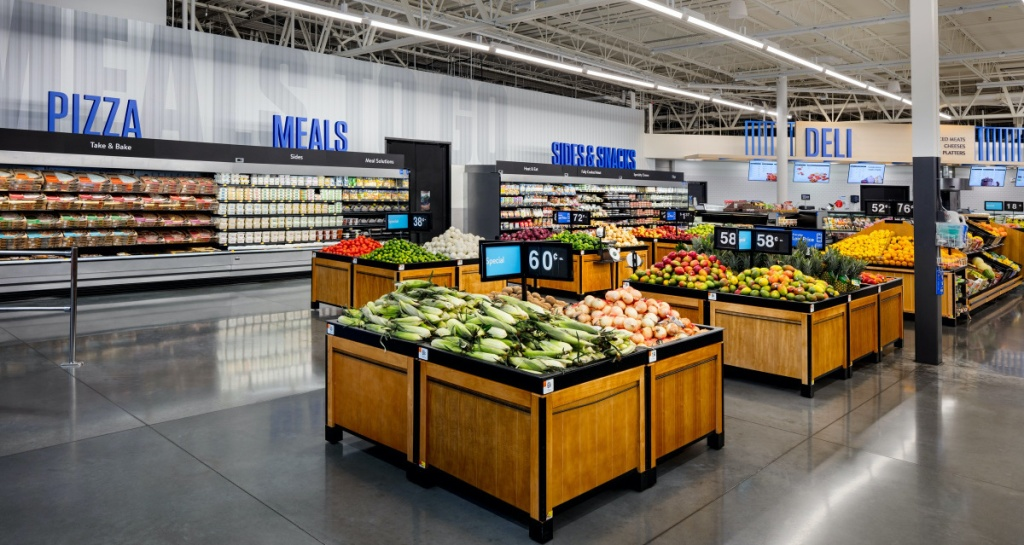 grocery section of Walmart store