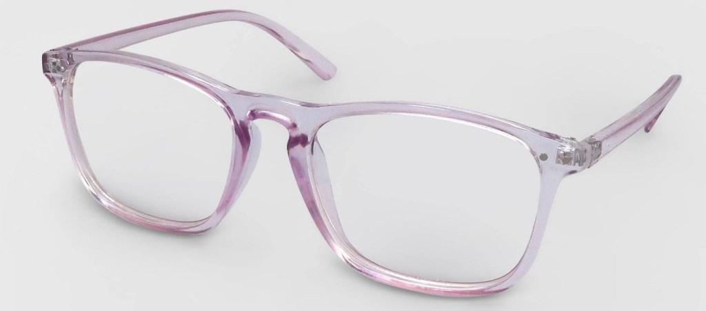 pair of blue light blocking glasses