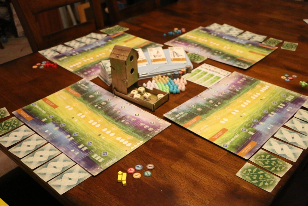 Wingspan board Game placed on a table