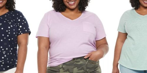 Women's Plus Size Tees as Low as $4.48 Shipped for Kohl's Cardholders (Regularly $16)