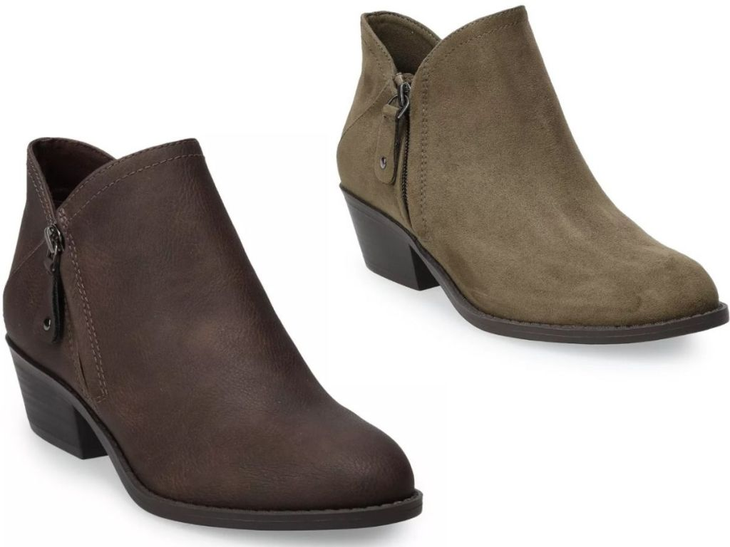 Two SO womens ankle booties