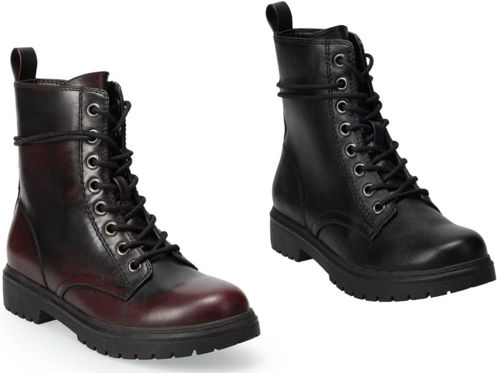 Two SO womens combat boots