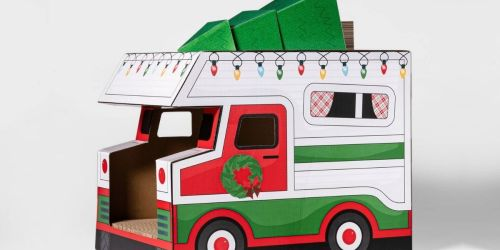 Wish Your Cat a Meowy Christmas With These Wondershop Holiday Cat Scratchers at Target