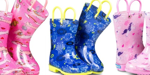 Kids Rain Boots from $8.99 on Zulily (Regularly $20+) | Lots of Fun Styles Available
