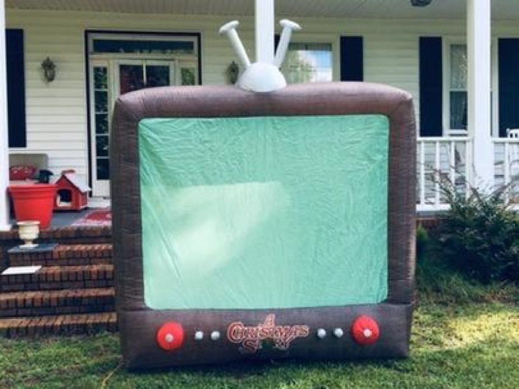 inflatable TV in front yard