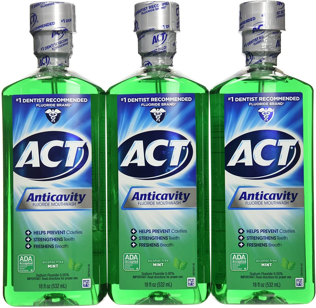 act moiuthwash 3 pack side by side