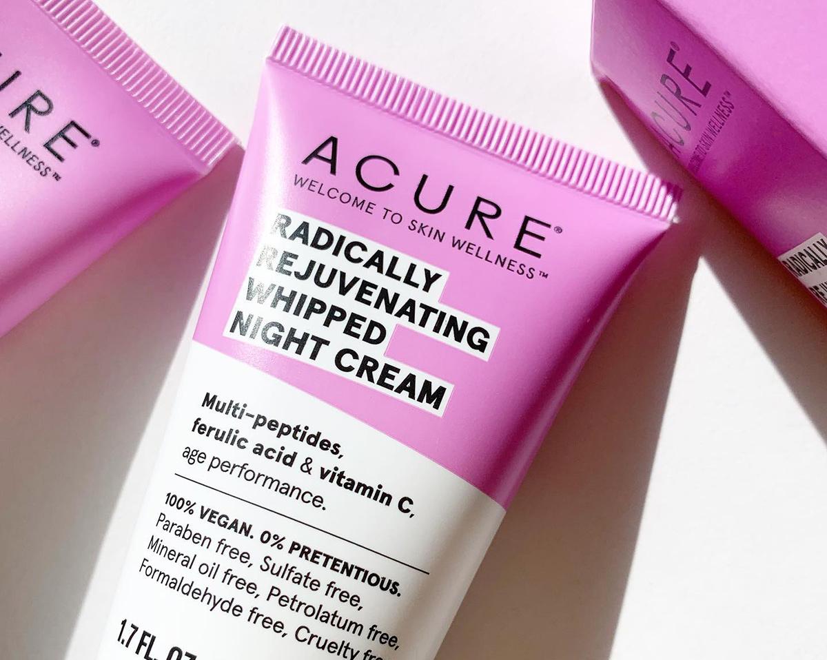 acure radically rejuvenating whipped night cream bottle