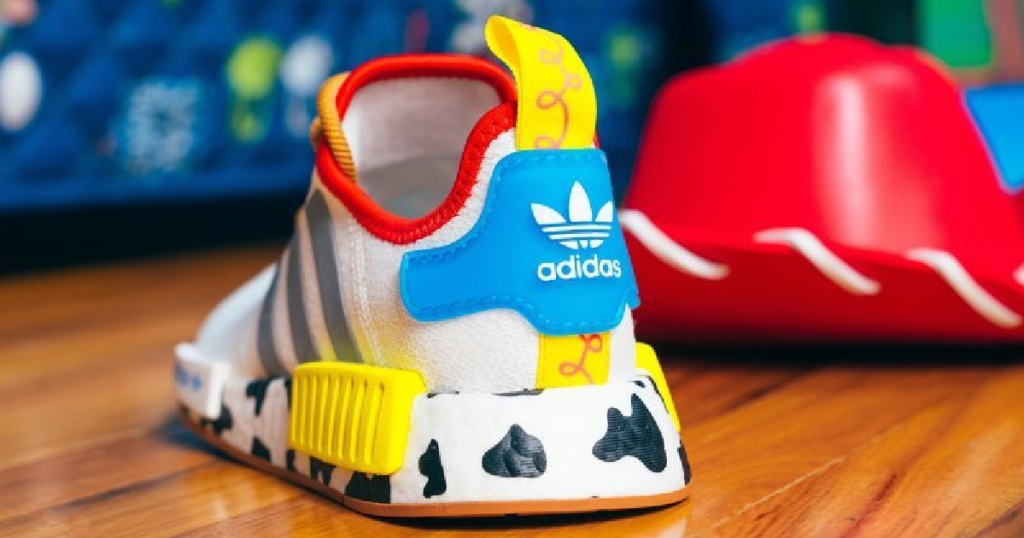 adidas woody shoe disney back of shoe