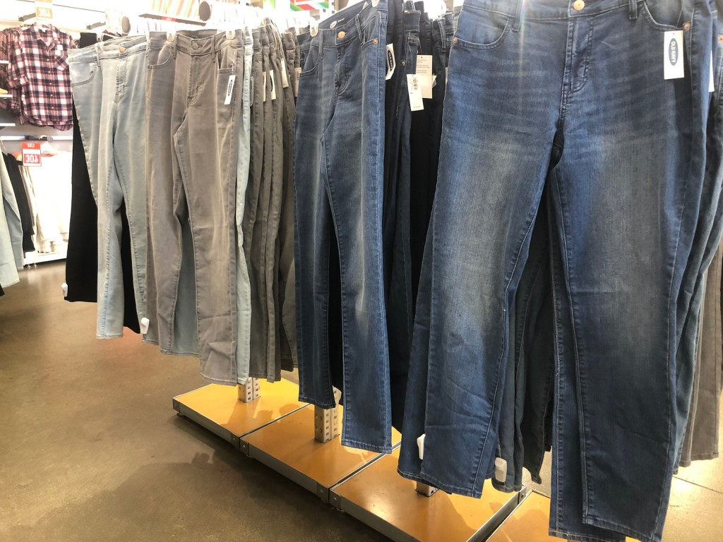 adult jeans at old navy in store
