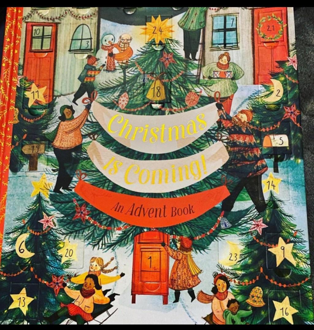 christmas advent calendar book cover