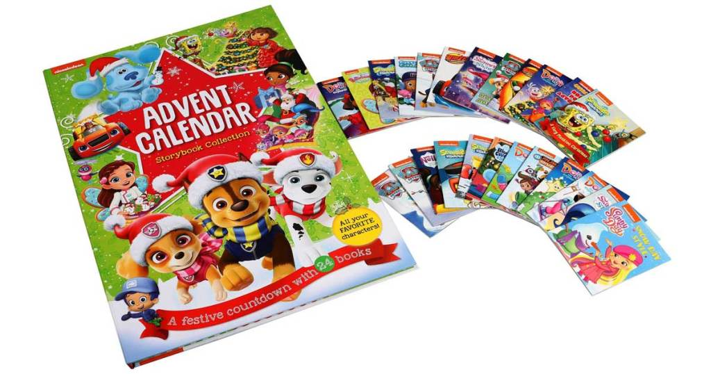 nickolodeon advent calendar set with mini books