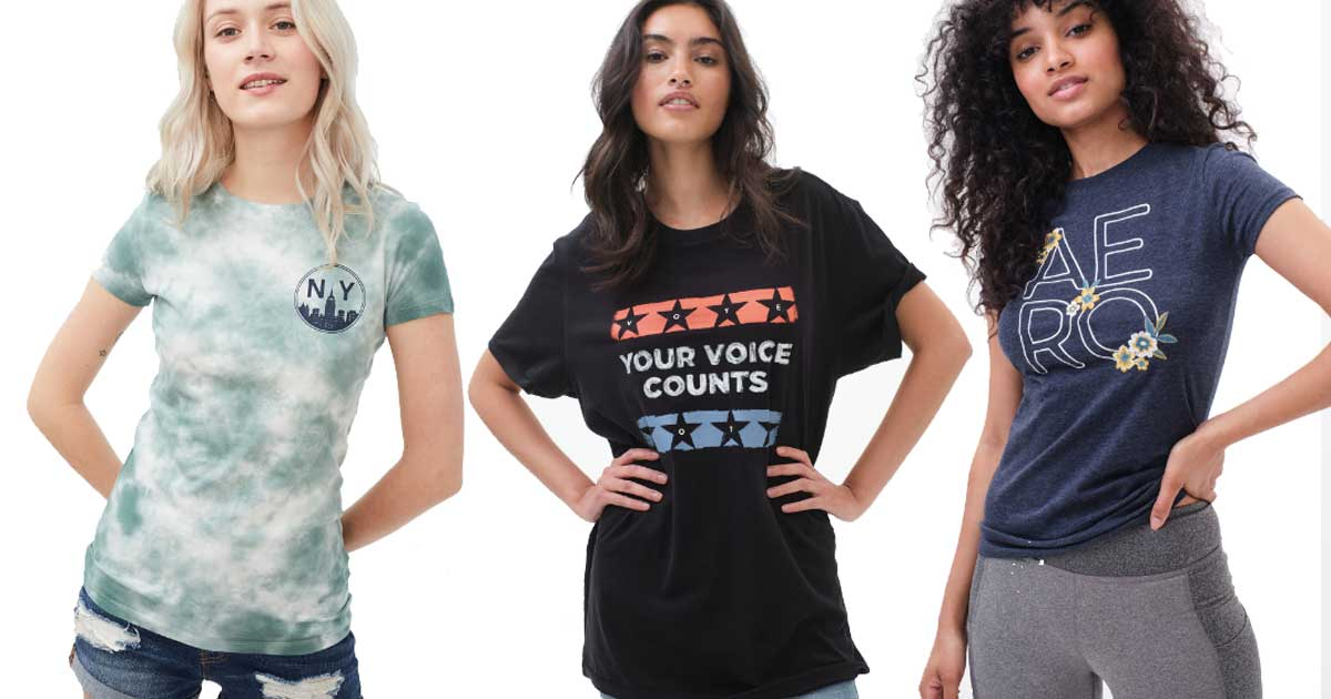 models wearing graphic tees